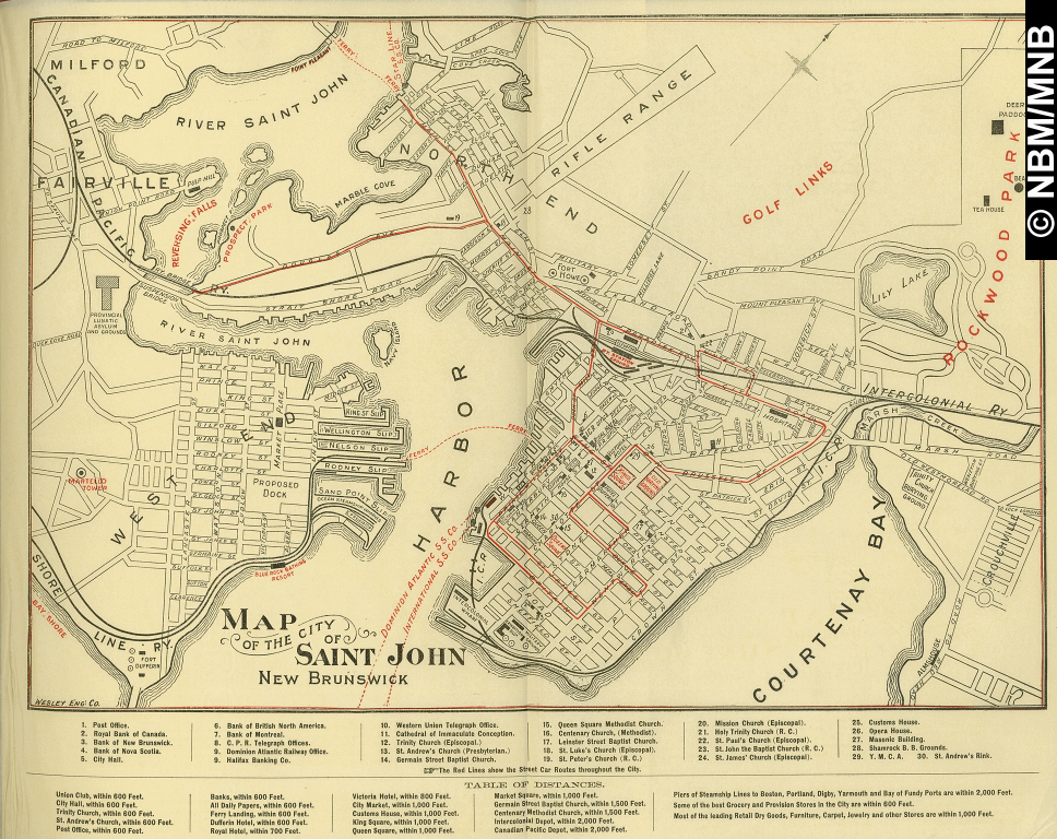 map of the city of saint john new brunswick