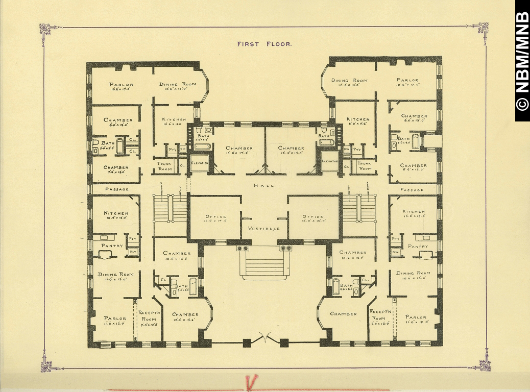 First floor plan proposed apartment house saint john new brunswick